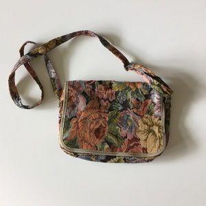 Tapestry Crossbody Bag Floral Cross Body Purse